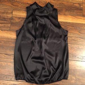 Black Satin Forever 21 Holster Dressy Top